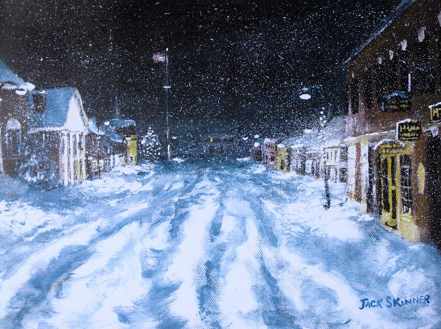 Snow Painting - Call Out The Plows by Jack Skinner