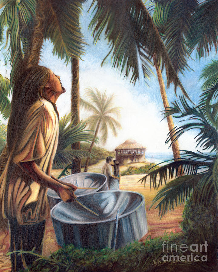 Tropical Painting - Call To Paradise by Mike Massengale