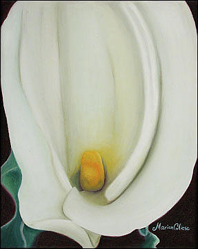 Flower Painting - Calla III by Marian Gliese