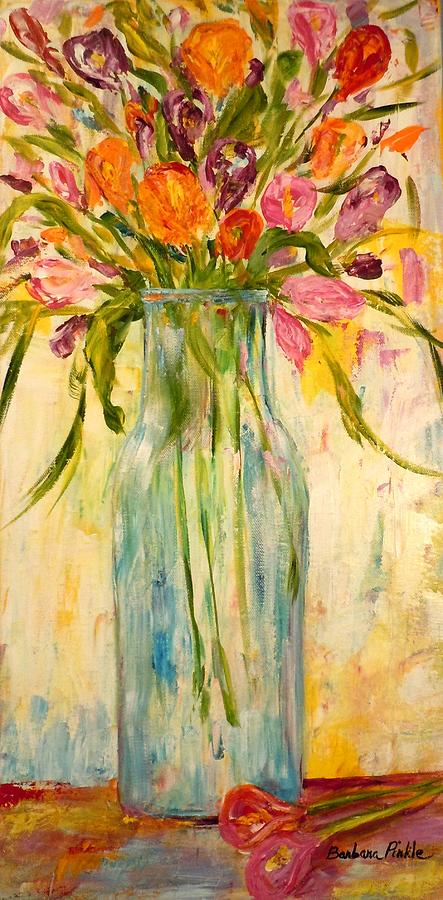 Color Painting - Calla Lilies by Barbara Pirkle
