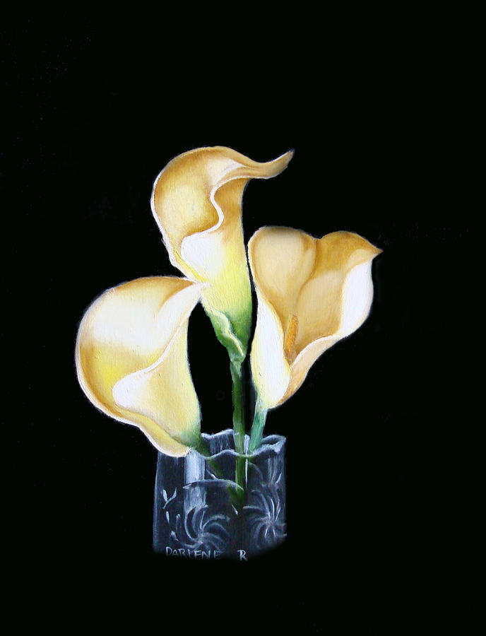 Calla Lilies Painting - Calla Lily by Darlene Green