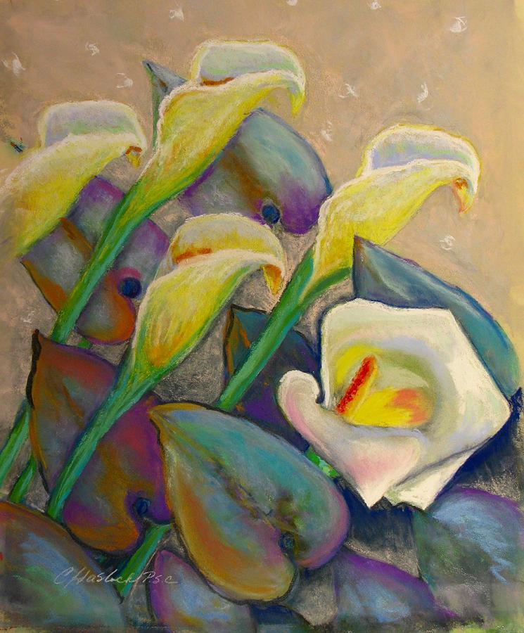 Impressionistic Pastel - Calla Lily Design by Carole Haslock