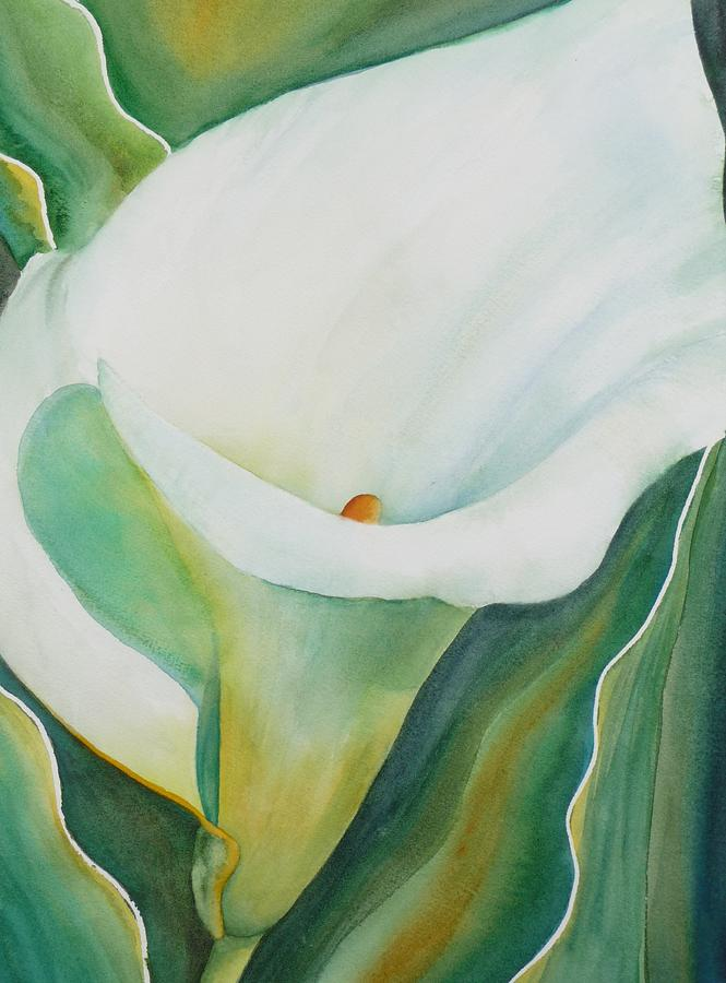 Flower Painting - Calla Lily by Ruth Kamenev