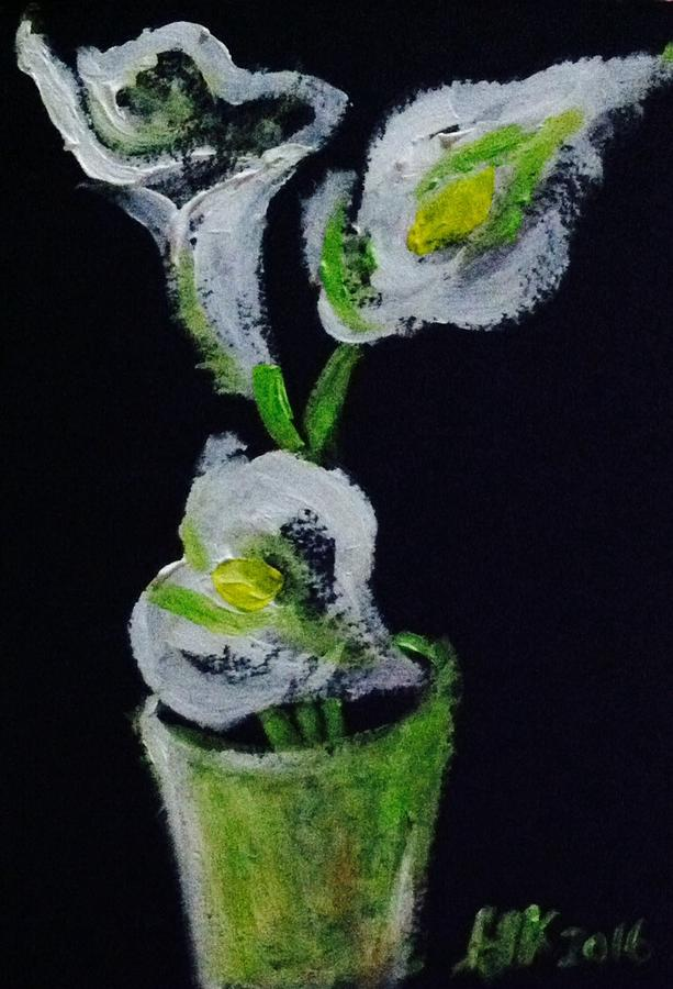 Calla Lily Painting - Calla Lily Study by Hae Kim