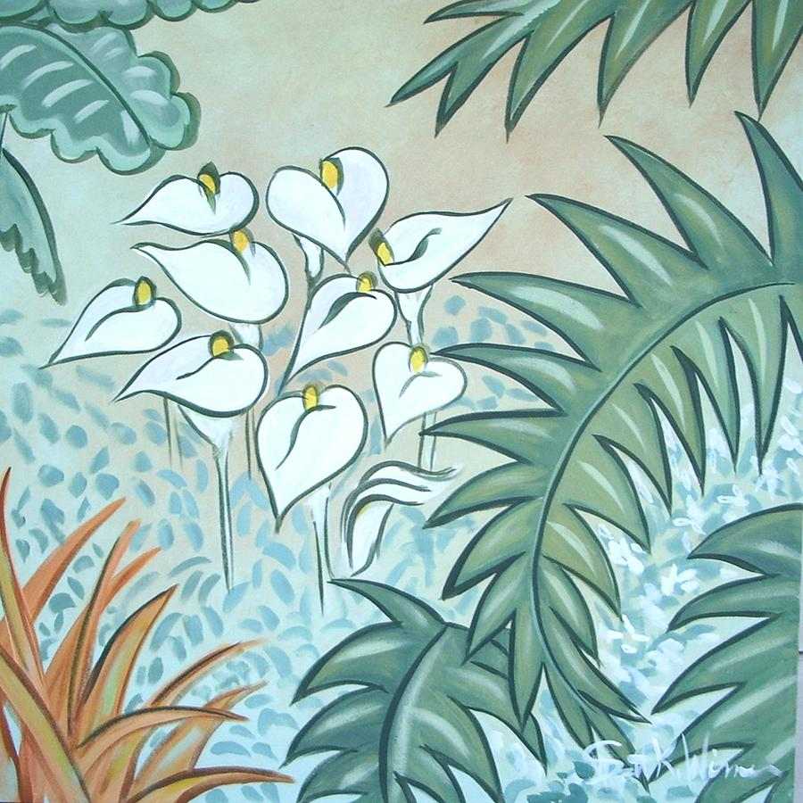 Tropical Painting - Callas by Scott K Wimer