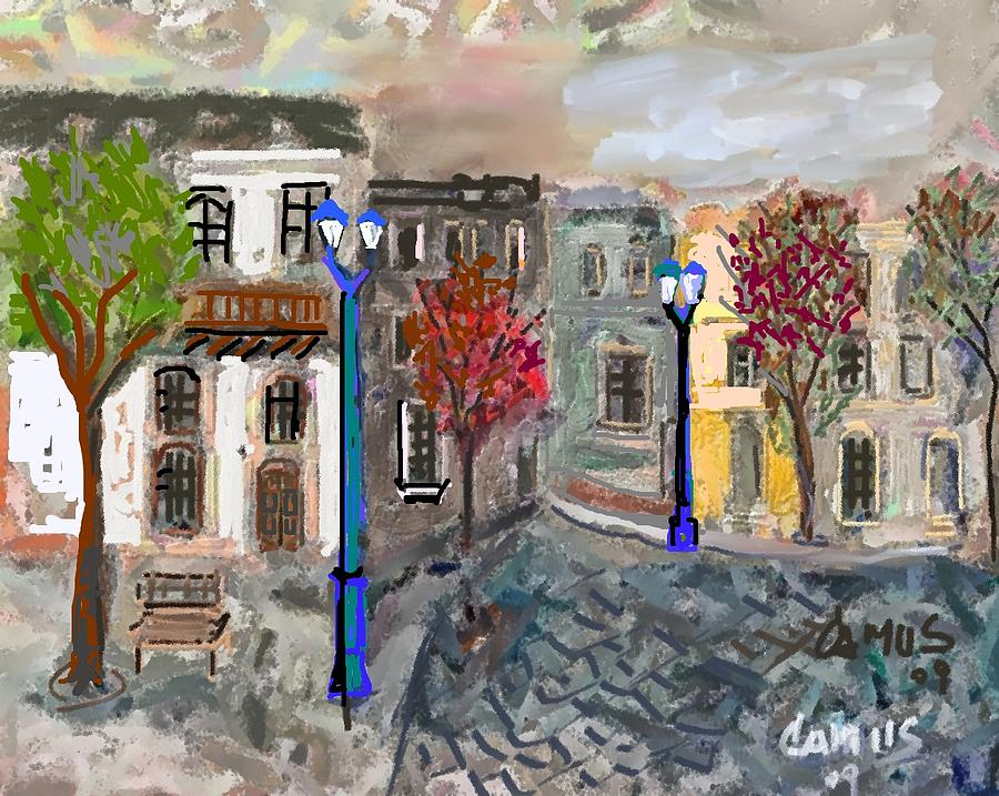Art Painting - Calle Chile by Carlos Camus