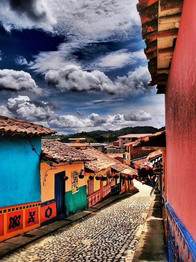 Guatape Photograph - Calle De Colores by Skip Hunt