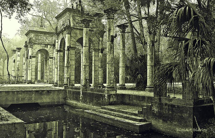 Columns Digital Art - Calle Grande Ruins by DigiArt Diaries by Vicky B Fuller