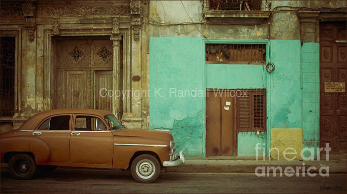 Cuba Photograph - Calle Industria by K Randall Wilcox