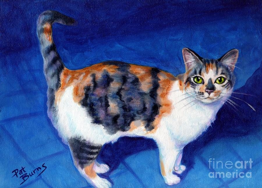 Cat Painting - Callie by Pat Burns