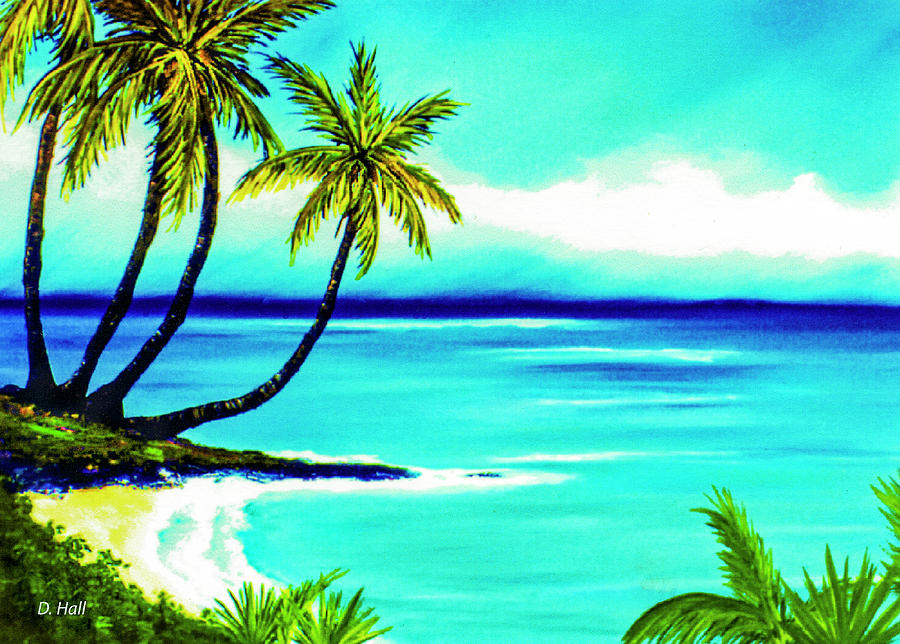 Hawaii Painting - Calm Bay #53 by Donald k Hall