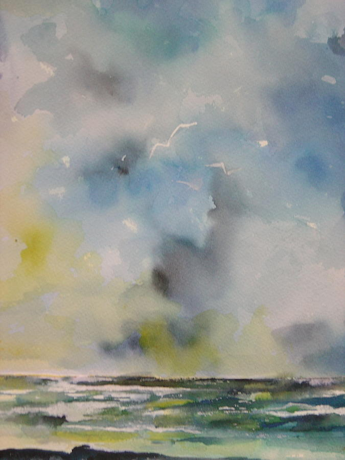 Clouds Painting - Calm Before The Storm #1 by Robin Miller-Bookhout