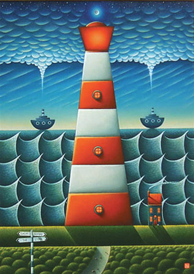 Lighthouse Painting - Calm Before The Storm by Connor Maguire