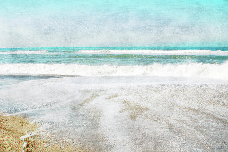 Coast Mixed Media - Calm Coast- Art By Linda Woods by Linda Woods