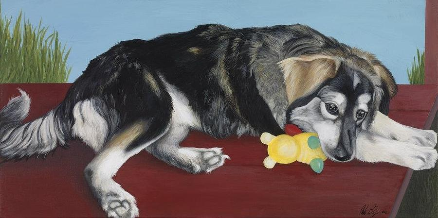 Dog Painting - Calm Day by Nicole Williams