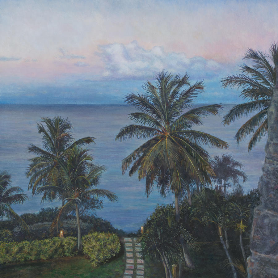 Virgin Islands Painting - Calm In The Carribean by David P Zippi