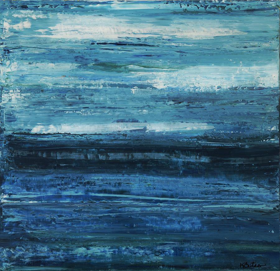 Blue Painting - Calm by K Batson Art