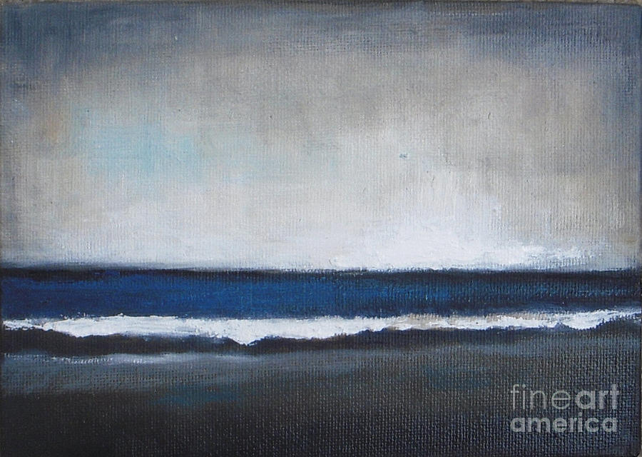 Seascape Painting - Calm Ocean by Vesna Antic