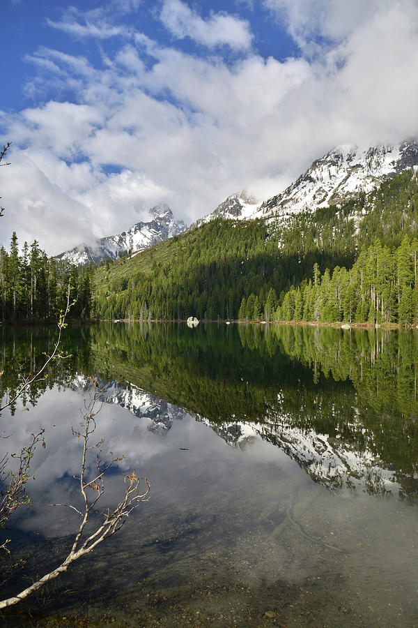 Grand Teton National Park Photograph - Calm Reflection On String Lake by Ray Mathis