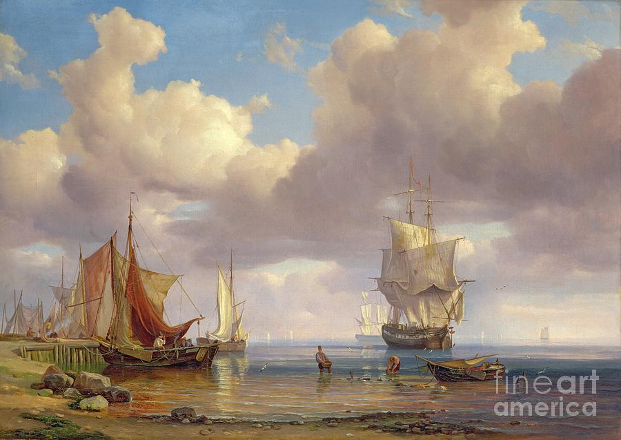 Calm Painting - Calm Sea by Adolf Vollmer