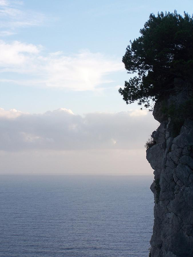 Capri Photograph - Calm Sea At Dusk by Adam Schwartz