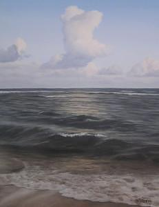 Waves Painting - Calm Waves by Peter Winberg