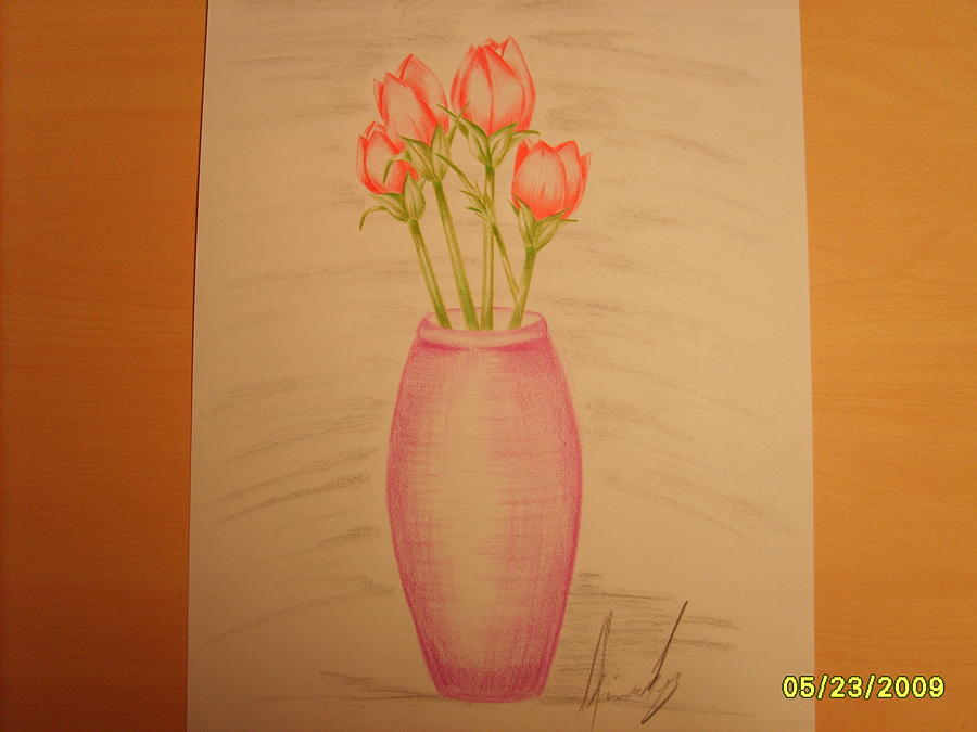 Tulips Drawing - Calming Effect by Aimee Ley