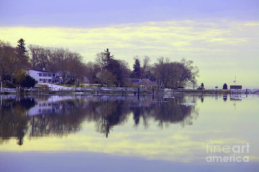 Coastal Photograph - Calming Lavendar Scene by Karol Livote
