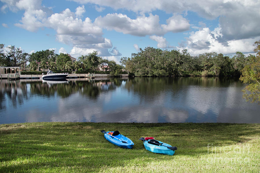 River Photograph - Caloosahatchee Kayaking by Judy Hall-Folde
