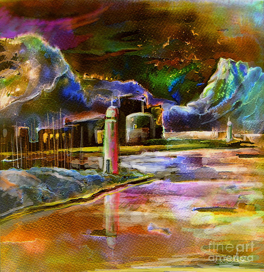 Costa Blanca Painting - Calpe 02 Spain by Miki De Goodaboom