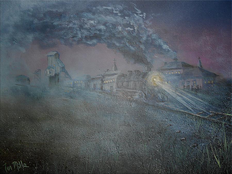 Calumet Painting - Calumet Train Depot by Terry Mills