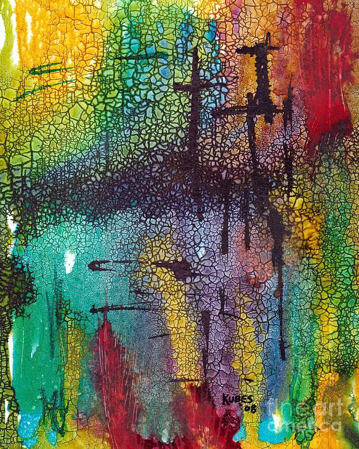 Cross Painting - Calvary by Susan Kubes