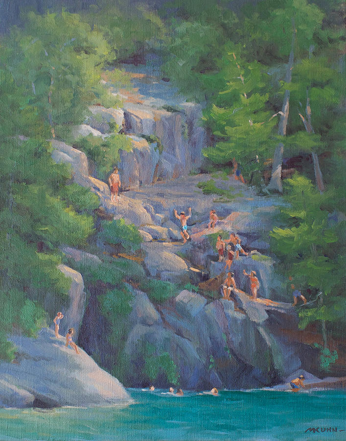 Lake George Painting - Calves Pen Full House by Marianne Kuhn
