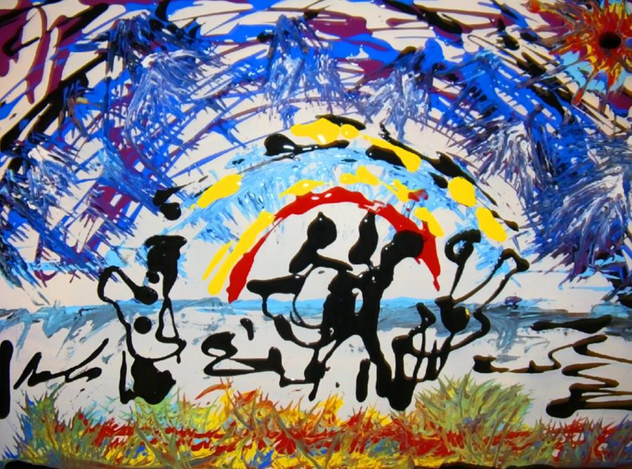 Music Painting - Calypso Band by Darryl  Kravitz