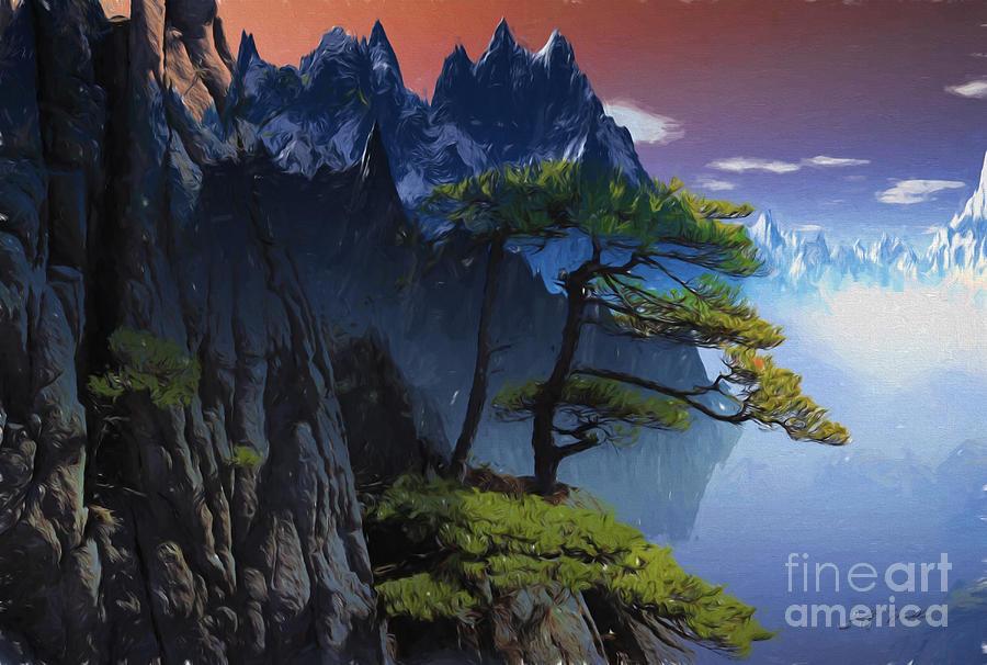 Calypso Mountains Oil on canvas by Heinz G Mielke