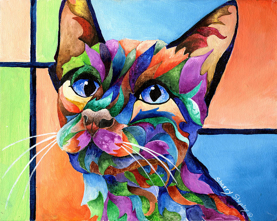 Cat Painting - Calypso by Sherry Shipley