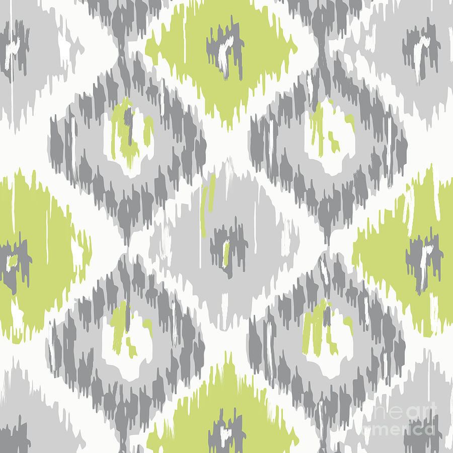 Ikat Painting - Calyx Ikat Pattern by Mindy Sommers