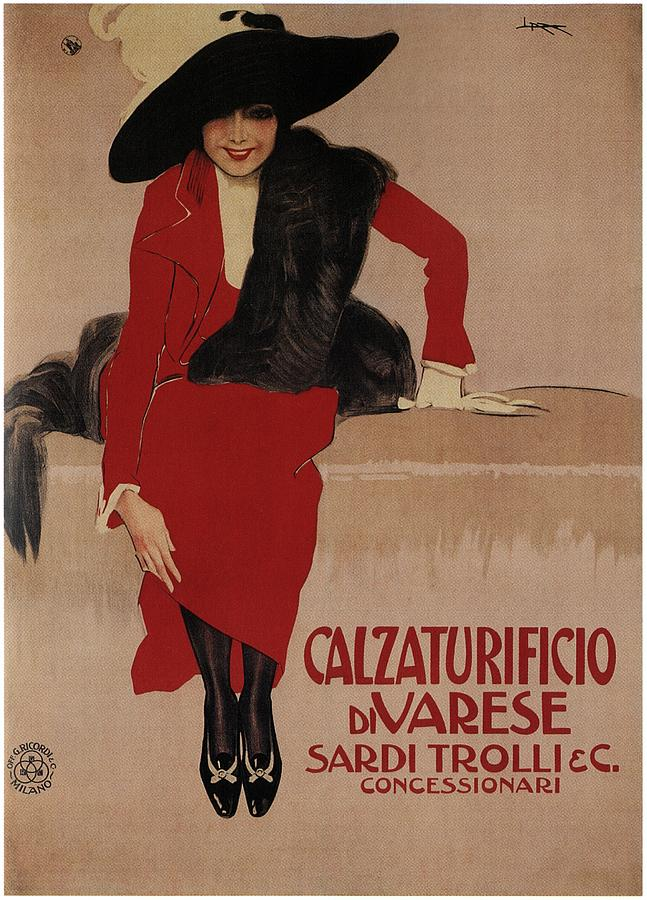 Calzaturificio Di Varese - Shoe Factory - Vintage Advertising Poster Mixed Media