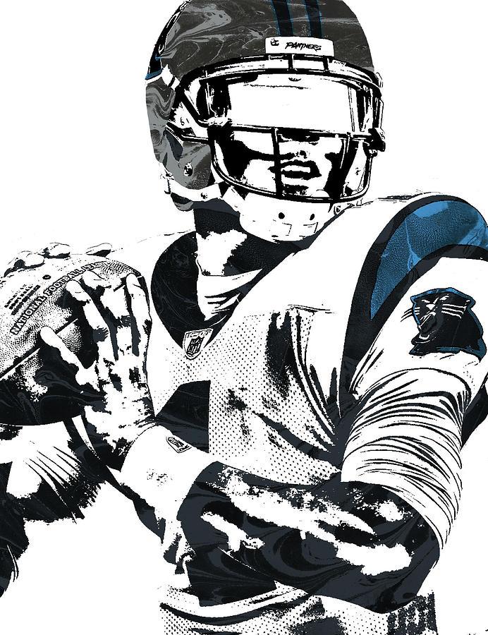 Cam Newton Carolina Panthers Pixel Art 3 Mixed Media by Joe  supplier
