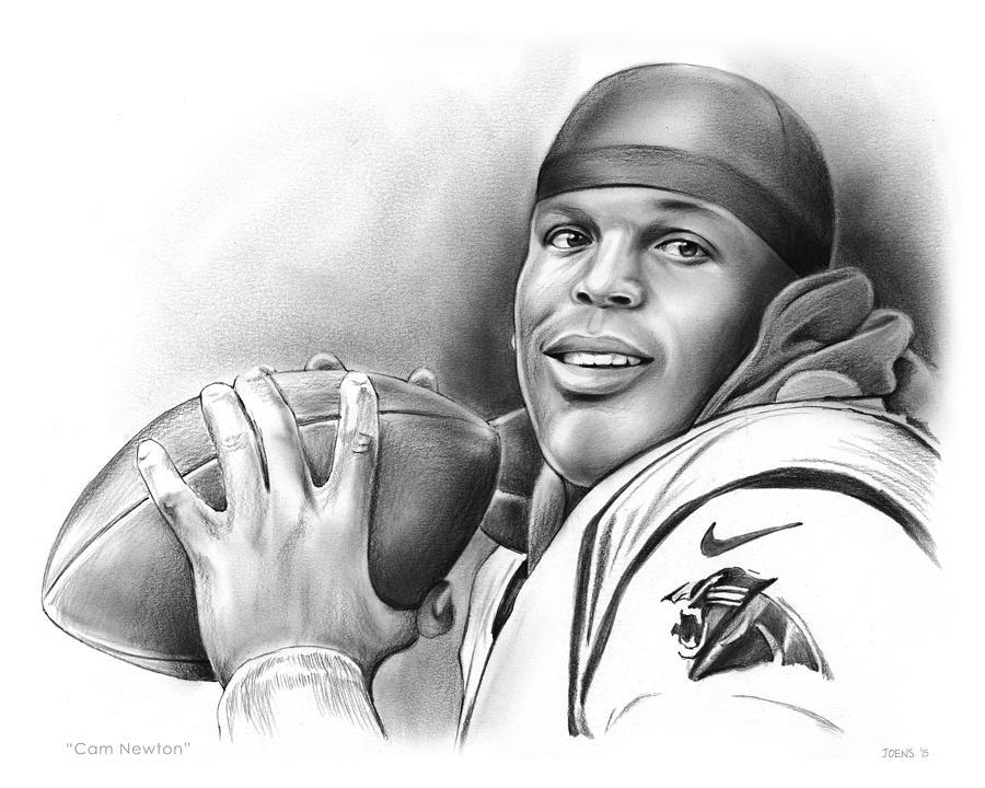 Cam Newton Drawing