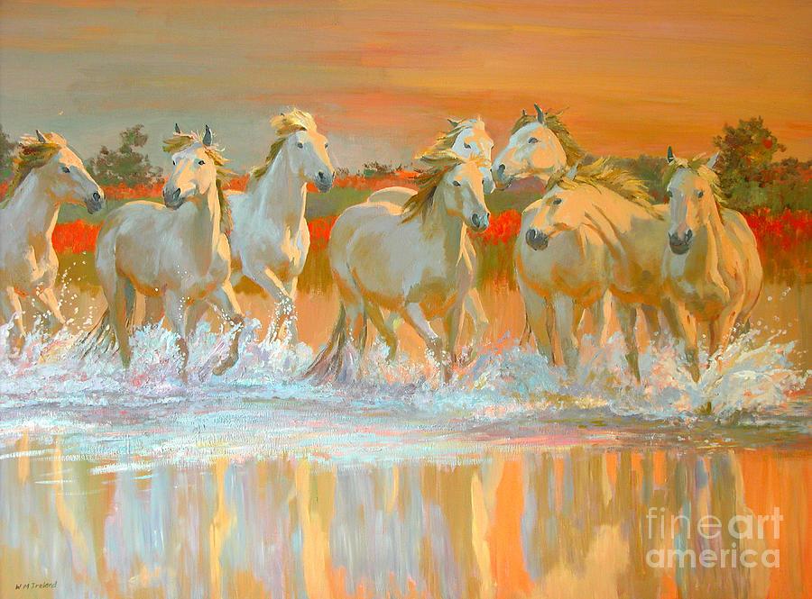 Horses Painting - Camargue  by William Ireland