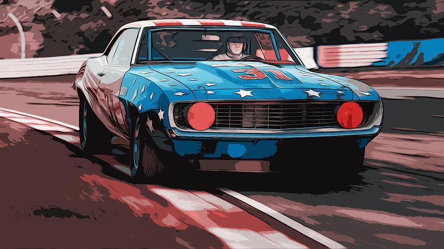 1969 Painting - Camaro Z28 Transam 1969 by Andrea Mazzocchetti