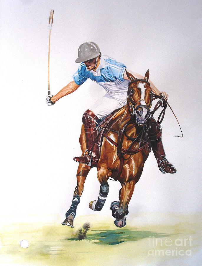 Horse Painting - cambiaso On The Offside by Sabrina Siga