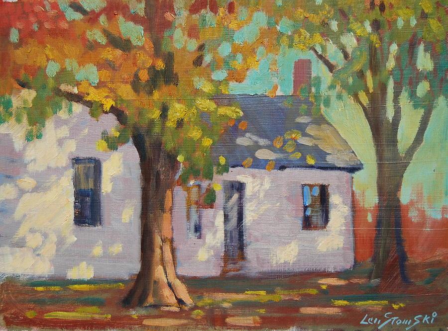Berkshire Hills Autumn Painting - Cambridge New York by Len Stomski