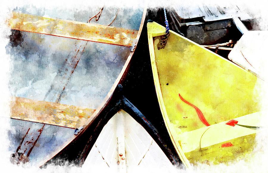 Dories Digital Art - Camden Dories Wc by Peter J Sucy