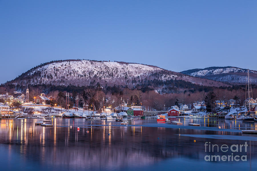 Camden Harbor in Winter by Susan Cole Kelly