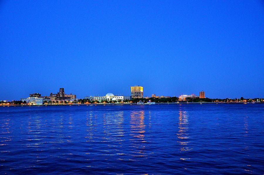 City Hall Photograph - Camden Night Skyline by Andrew Dinh