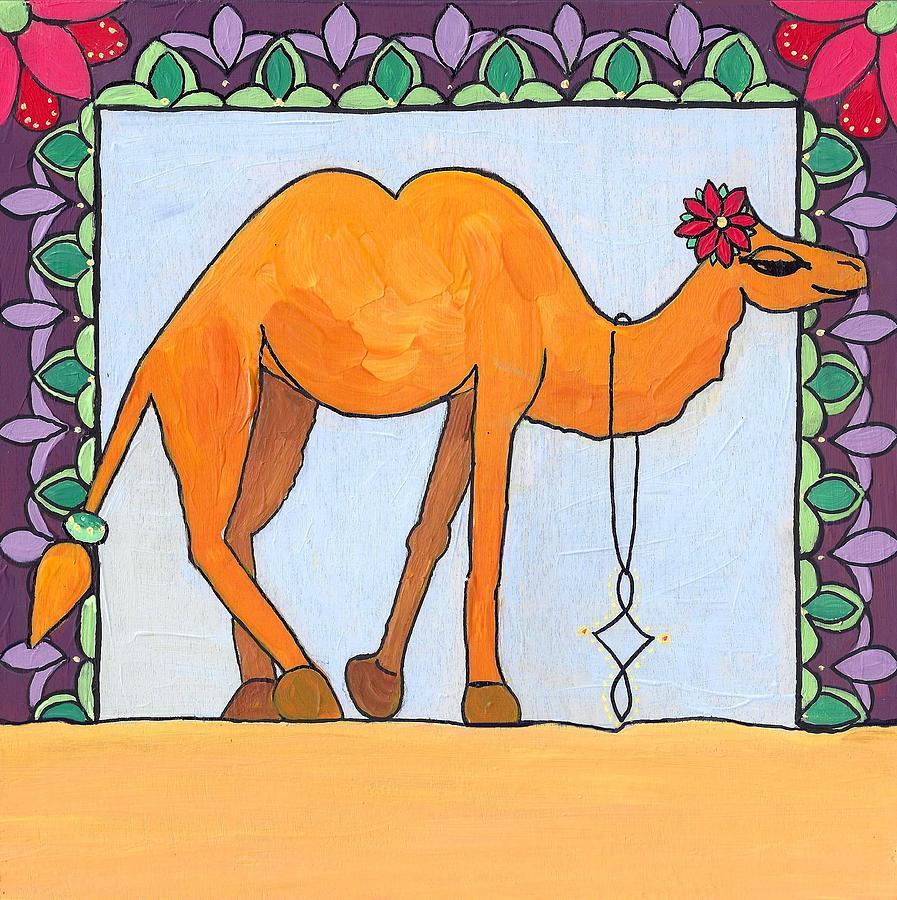 Caroline Painting - Camel by Caroline Sainis