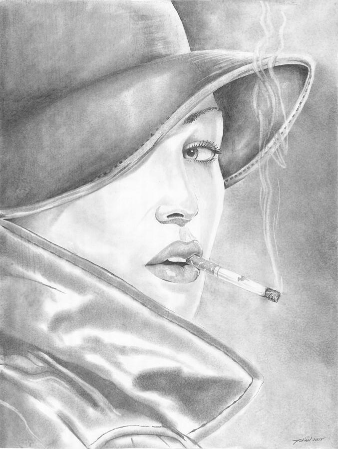 Women Drawing - Camel Girl by Julian  B