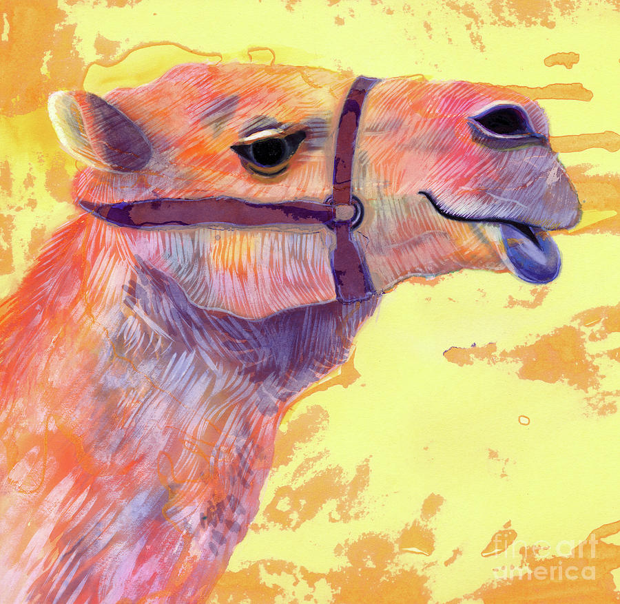 Camel Painting - Camel by Jane Tattersfield